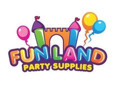 FUN LAND Party Supplies logo design - 48HoursLogo.com