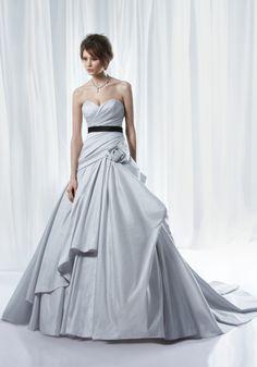 Pretty silver-blue dress