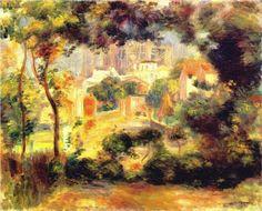 Looking out at the Sacre Coeur - Pierre-Auguste Renoir