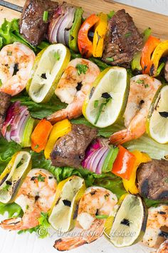 Jerk Beef and Shrimp Kebabs with Grace Foods   Art and the Kitchen - amazing Jerk flavour for all your BBQ favourites   #GrillWithGrace