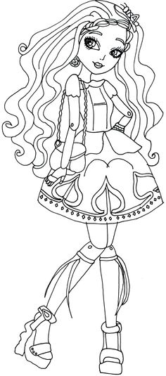 Free Printable Ever After High Coloring Pages: Cedar Wood Ever After High Coloring Page