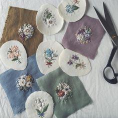 """좋아요 1,298개, 댓글 43개 - Instagram의 Rairai(@rairai_ws)님: """"何だか久しぶりになってしまった刺繍の写真。 これからブローチに仕立てます。 こちらはmimi edenさん(@mimi_eden ) の出張店に出品する予定です。"""""""