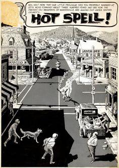 Reed Crandall original comic art (from Creepy #7)