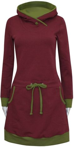 Hoodie dress cozy dress Ela-Hoodiekleid Kuschelkleid Ela Sporty, elegant and warm through the winter, the Ela hoodie dress leaves nothing to be desired. Diy Clothing, Sewing Clothes, Look Fashion, Womens Fashion, Hooded Dress, Fashion Sewing, Tee Dress, Clothes For Women, Hoodies