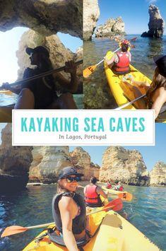 Kayaking Sea Caves in Lagos Portugal | The Wanderlust Brunette