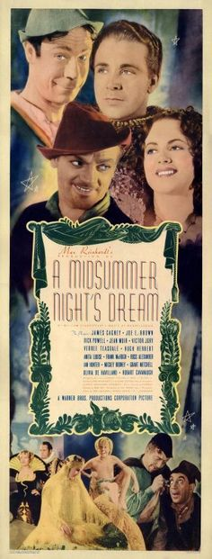 """A Midsummer Night's Dream"" (1935) Jimmy Cagney, Mickey Rooney, Joe E. Brown"
