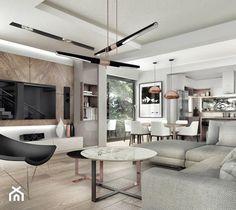 Aranżacje wnętrz - Salon: dom pod Krakowem 250m2 - Duży salon z kuchnią z jadalnią, styl nowoczesny - MaNaZa. Przeglądaj, dodawaj i zapisuj najlepsze zdjęcia, pomysły i inspiracje designerskie. W bazie mamy już prawie milion fotografii!