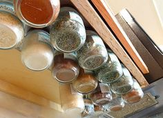 No matter the square footage of your kitchen, the perfect amount of space for storage and prep always seems just out of reach. Fortunately, nothing frees up space like a little organization. And when we hear that you can clear out a full drawer by devising a DIY solution for spice storage, we're all ears. Actual woodworking is not a requirement, because these 10 ideas for storing spices include simple repurposing projects as well as custom-tailored solutions, and all of them get the job…