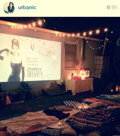 cozy movie night:  actually going to make happen next summer