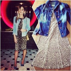 Look inspirado na #thassianaves . Jaqueta #jeans #cavalera ,...