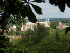 Eton College chapel from the Castle terrace
