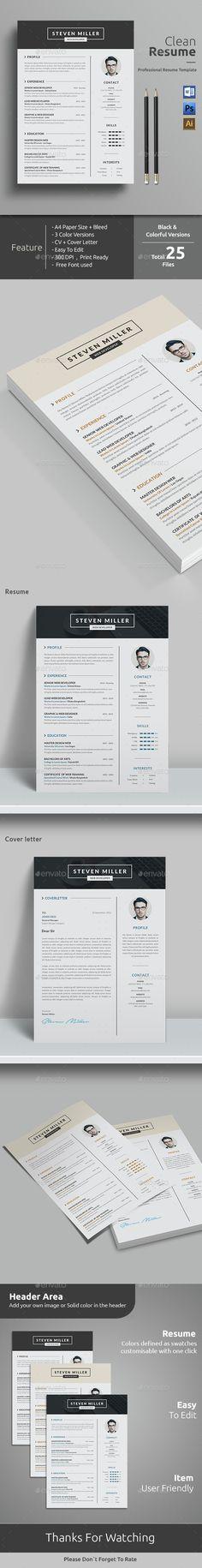 August Kaiser - Resume\/CV Template Cv template, Resume cv and - simple cv template