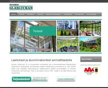 Suomen Glasluckan Projektina: WordPress kotisivut