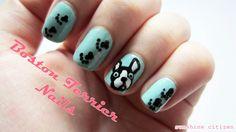 Boston Terrier Nail Art learn how to create this adorable design blog post+video! #bostonterrier #nailart