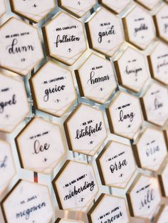 The Chicest Ballroom Wedding Overlooking the White House modern seating cards Wedding Name, Wedding Place Cards, Dream Wedding, Chic Wedding, Wedding White, Wedding Things, Mr Mrs, Diana, Square Wedding Cakes