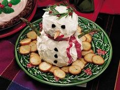 Make-Ahead Snowman Cheese Ball recipe from Betty Crocker