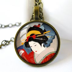 Japanese Art Geisha Spring Snow