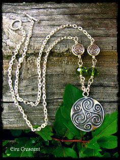 Celtic Triskele Necklace by EireCrescent on Etsy, $25.99