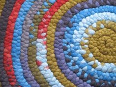 Gorgeous hand dyed and braided wool rugs from Woolymama