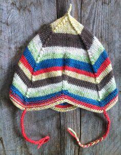 Scandinavian Style Waldorf Baby Hat- multicolored washable merino wool- baby gift unisex