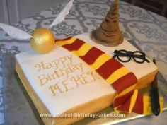 Homemade Harry Potter Monster Book Cake