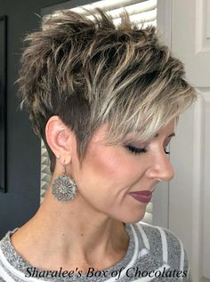 Today we have the most stylish 86 Cute Short Pixie Haircuts. We claim that you have never seen such elegant and eye-catching short hairstyles before. Pixie haircut, of course, offers a lot of options for the hair of the ladies'… Continue Reading → Pixie Haircut For Thick Hair, Funky Short Hair, Short Sassy Haircuts, Short Choppy Hair, Cute Hairstyles For Short Hair, Short Hair Cuts For Women, Everyday Hairstyles, Curly Hair Styles, Pixie Undercut Hair