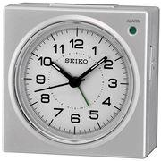 Seiko QHE086SLH Silver Tone Analog Travel Alarm Clock - Travel Alarm Clocks