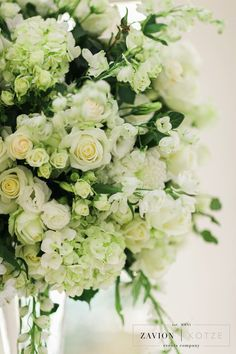 White roses, orchids mass arrangements, rose gold candles Rose Gold Candle, Gold Candles, Green Wedding, Wedding Flowers, White Roses, Bouquets, Orchids, Floral Wreath, Wreaths