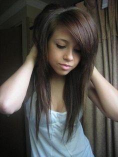 Image result for ideias de cores para cabelos pretos