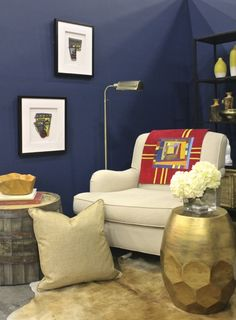 How to use traditional pieces like quilts in modern rooms. Via @Erika Ward for MyColortopia.com