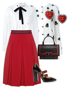 """Untitled #165"" by sh-66-sh on Polyvore featuring Alice + Olivia, VIVETTA, Gucci, Chanel and Givenchy"