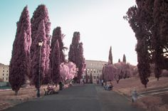 Infrared Photos of Rome Capture the City of Love as a Pink Wonderland - My Modern Met