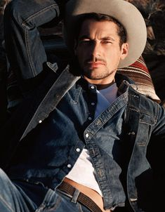 David Gandy is a Dashing Cowboy for Lucky Brand's Spring 2013 Campaign Save a horse ride this cowboy