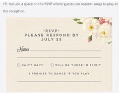 RSVP with a song