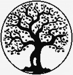 Cross Stitch Tree of Life: free cross stitch Chart Cross Stitch Pattern Maker, Free Cross Stitch Charts, Cross Stitch Patterns, Celtic Cross Stitch, Cross Stitch Tree, Cross Stitching, Cross Stitch Embroidery, Embroidery Patterns, Chart Design