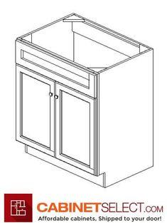 Buy Greystone Shaker Kitchen Cabinets - RTA Cabinets by CabinetSelect Kitchen Cabinets On A Budget, White Shaker Kitchen Cabinets, Kitchen Cabinet Colors, Painting Kitchen Cabinets, Mdf Cabinet Doors, Mdf Cabinets, Types Of Cabinets, Plywood Shelves, Sink