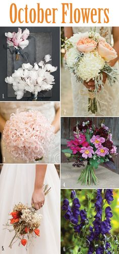 #October bridal #bouquet #flowers from Lucky in Love Seattle Wedding Resource