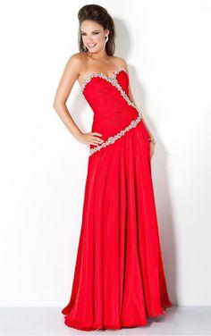 Chic Red Sheath Floor-length Sweetheart Dress [Dresses 10119] - $173.00 :