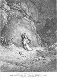 Hagar and Ishmael in the Wilderness - Gustave Dore http://www.pinterest.com/martinafried/hagar/