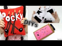 A fun Daiso chocolate cake felt kit which I bought at Daiso :D. Thank you for watching, I plan to make more crafting videos ^ ^ Felt Phone Cases, Felt Case, Diy Phone Case, Iphone Cases, Kawaii Felt, Kawaii Diy, Softies, Plushies, Octopus