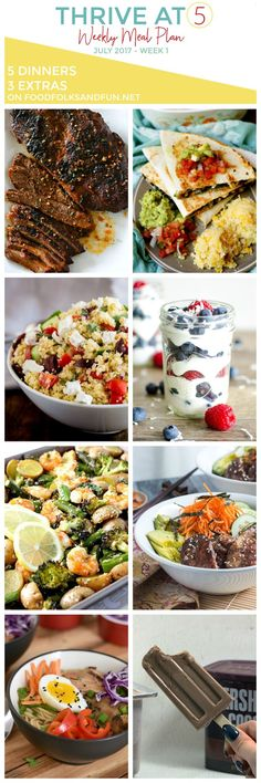 12 best menu plans from food folks and fun images on pinterest thrive at five meal plan july week forumfinder Gallery