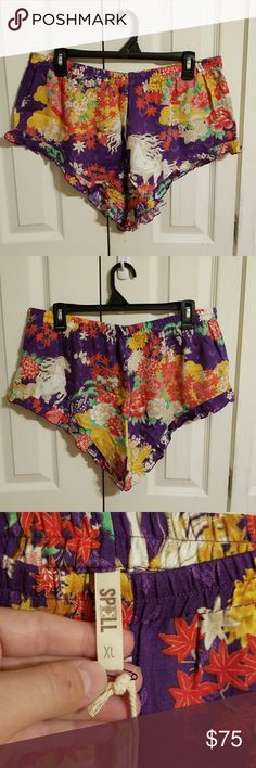 Spell & The Gypsy Collective Wild Horses Shorts XL NWT Spell & The Gypsy Collective Wild Horses Shorts XL in Royal. Tried on once. The tag says Bloomers, but it came this way. The price is Firm due to what I paid plus POSH fees. Cross posted. Spell & The Gypsy Collective Shorts