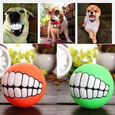 ZJKC 4 PCS Random Color Funny Pet Dog Ball Teeth Silicon Toy Chew Squeaker Squeaky Sound Dogs Play Toys Pet Puppy Dog Funny Ball Teeth Silicon Toy Chew Sound Dogs Play Toys >>> You can get additional details at the image link. (This is an affiliate link and I receive a commission for the sales) #Pets