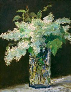 Edouard Manet - Vase de fleurs, lilas blancs