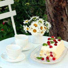 Mascarpone raspberry trifle terrine