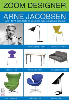 Home Icon Design Arne Jacobsen Ideas For 2019 Danish Furniture, Scandinavian Furniture, Classic Furniture, Mid Century Modern Furniture, Furniture Styles, Furniture Design, Arne Jacobsen, Nordic Design, Scandinavian Design