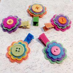 Flores con botones