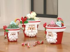 Manualidades y Artesanías | Macetas con Papá Noel | Utilisima.com