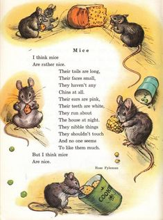 Mice Are Nice by Rose Fyleman