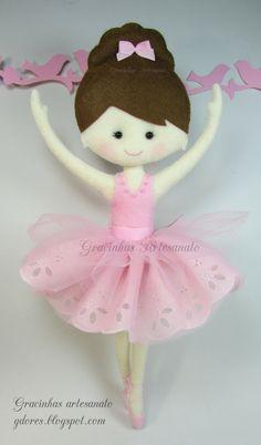 Felt ballerina Gracinhas Artesanato